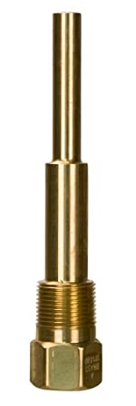 WIKA Brass Threaded Thermowell Reduced Shank for Bimetal and Gas Actuated Thermometers