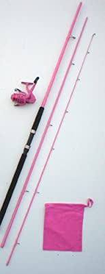 Ladies Powder Pink 12ft Match / Coarse Fishing Rod + Lined Reel by Fladen Marauder