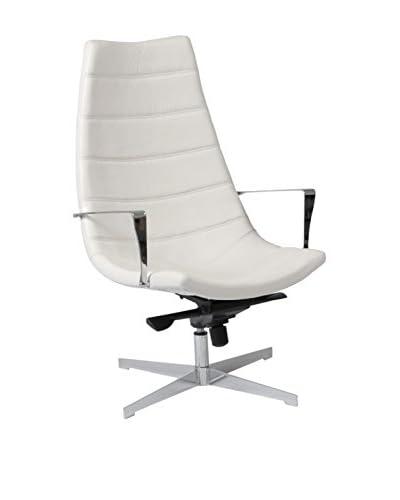 Euro Style Domino Lounge Chair, White