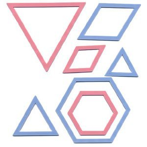 Clover Patchwork Templates Triangle/ Hexagon from Clover