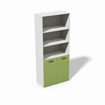 Mobile libreria per ufficio Galileo 2 ante R3S1 - Sportello Verde