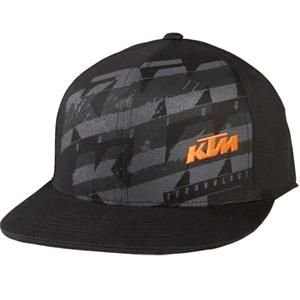 Fox Racing Youth KTM Dividend 210 Fitted Hat - One size fits most/Black