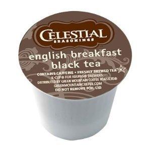 Celestial Seasonings English Breakfast Black Tea For Keurig Brewing Systems 24 K-Cups (2 Pack)