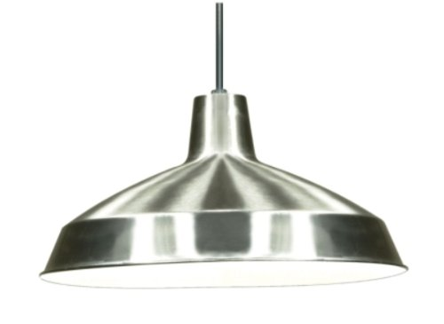 Nuvo Lighting 76/661 Warehouse Pendant 16-inch shade, Brushed Nickel