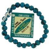 Zorbitz Giving Tree Acai Seed Cure Autism Bracelet, Blue