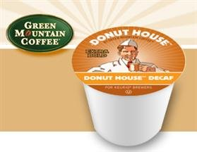 Green Mountain Donut House Decaf Coffee 3 Boxes