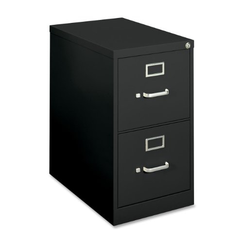 Basyx 2-Drawer Vertical File Cabinet, Letter, 15 by 22 by 26-1/16-Inch, Black