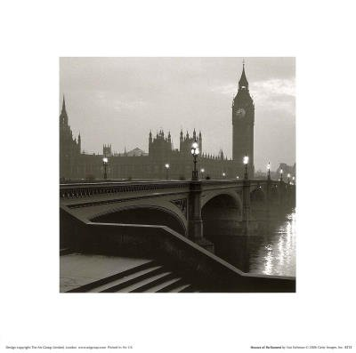 Big Ben and the Houses of Parliament London Art Print Poster - 12x12