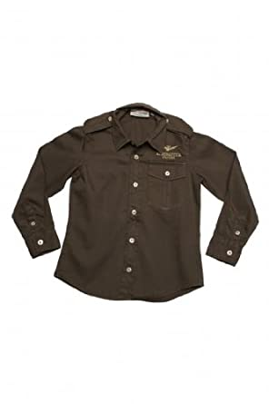Amazon.com: Aeronautica Militare Shirt, Color: Olive, Size: 164: Dress