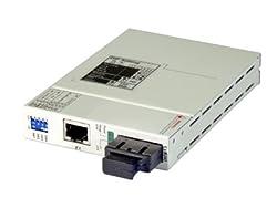 T1 to multimode fiber optic media converter (T1 fiber modem) - FIB1-T1R-SC2F, SC, 2Km, 1310nm