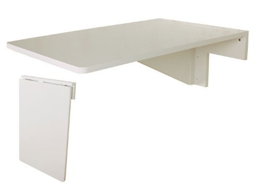 Solid wood wall mounted drop leaf table fwt04 w ebay - Wall mounted drop leaf table white ...