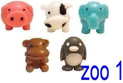Sqwishland Zoo Mania Collection Complete Set Of 5 With Game Codes
