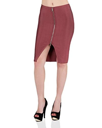 Wow Couture Women's Zip Front Skirt