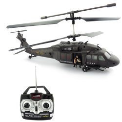 Protocol 3 Channel Remote Control Big Black Hawk Helicopter with Gyro