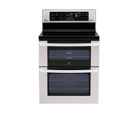 LG LDE3037ST 30 In. Freestanding Electric Double Oven with Infrared Grill Broiler - Stainless Steel