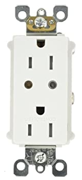 Vizia RF + Split Duplex Tamper Resistant Scene Capable Receptacle, White/Ivory/Light Almond, VRR15-1LZ