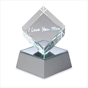 Glass Collectable Lighted Cube - Mother's Day Gift Ideas 2012