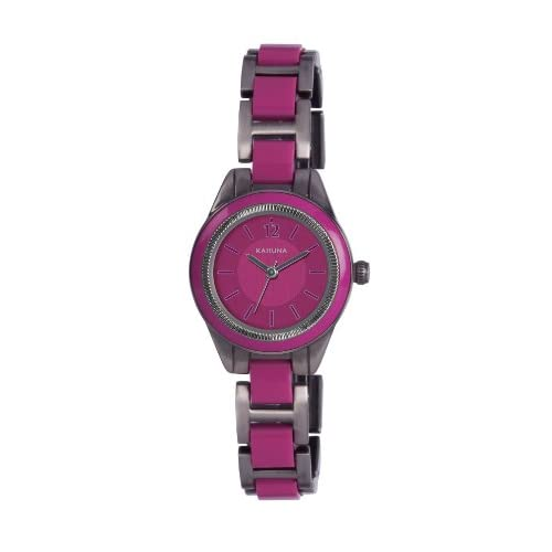 Kahuna Women's Quartz Watch with Pink Dial Analogue Display and Pink Bracelet KLB-0041L