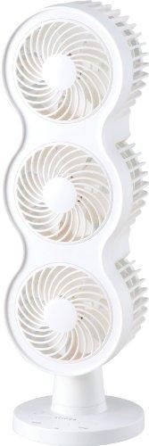 siroca 卓上扇風機 SDF-213WH  【ダブルファン&3連式でパワフル】