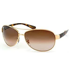Ray-Ban RB 3386 Sunglasses - Arista Frame / Brown Gradient 63 mm Diameter Lenses, RB3386-001-13-63