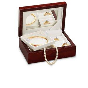 Cherrywood Jewelry Box with Mirror