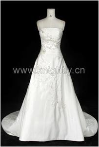 Knightly Wedding Dress Gown - Beaded Embroidery & Pleat Bridal Gow