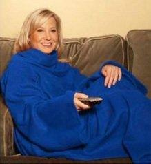 Manta con brazos snuggie tipo slanket anunciada en tv mws