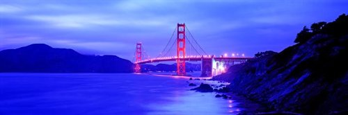Golden Gate Bridge San Francisco Wall Decal - 52 Inches W X 17 Inches H - Peel And Stick Removable Graphic front-769591