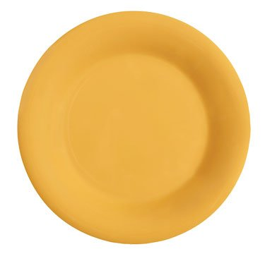 GET Mardi Gras Tropical Yellow Melamine Wide Rim Plate - 12