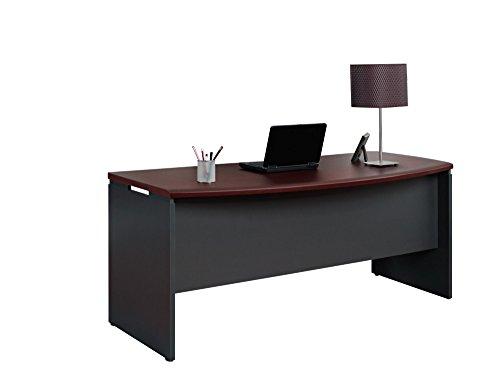 Altra Pursuit Executive Desk Cherry Gray Furniture Office