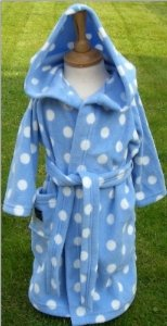 DG10 'CozyBear' Blue Polka Dressing Gown