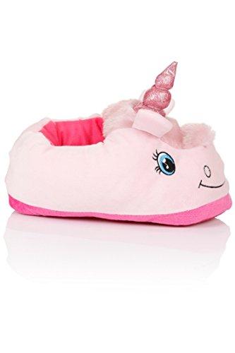 Kenmont-Peluche-Licorne-Chaussons-Unicorn-Pantoufles-Hiver-Coton-Chaussons-Chaussures-pointure-europenne-36-41-cadeaux-festival-Idol-Nouveaut-Nol