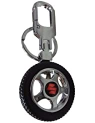 GCT Suzuki Spinning Tyre Rotary Wheel Locking Metal Keychain / Keyring / Key Ring / Key Chain
