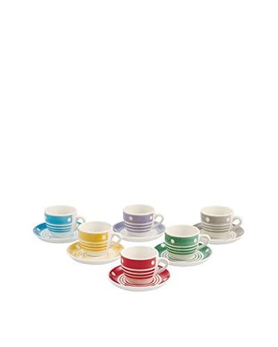 Satur Set Taza De Cafécon Plato 6 Uds. Circo Loco Multicolor