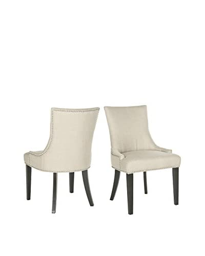 Safavieh Set of 2 Lester Dining Chairs, Antique Gold