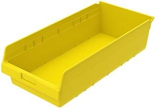 Akro-Mils 30014YELLO ShelfMax Plastic Nesting Shelf Bin Box 23-58-Inch L x 11-18-Inch W x 6-Inch H