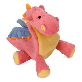 sherpa Go Dog Baby Dragons with Chew Guard coral pink