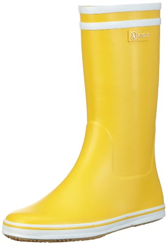 Aigle Malouine BT Gummistiefel 2479 Damen Ungefüttert Gummistiefel Halbschaft Stiefel & Stiefeletten, Gelb (jaune / blanc 3), 40