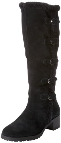 Aerosoles Women's Nesst Egg Boot,Black Suede,11 M US