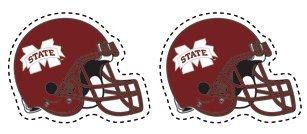 Buy Mississippi State Bulldogs FOOTBALL HELMET MAGNETS Set of 2 Car Truck Locker