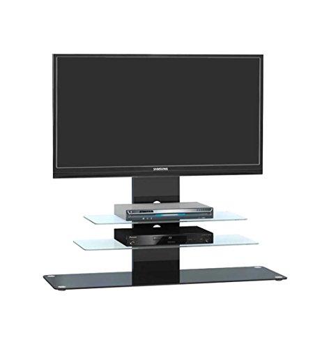 TV-Rack-mit-Metallgestell-in-schwarz-und-Schwarzglas-ESG-Sicherheitsglas-Kabelfhrung-Mae-BHT-ca-120103940-cm