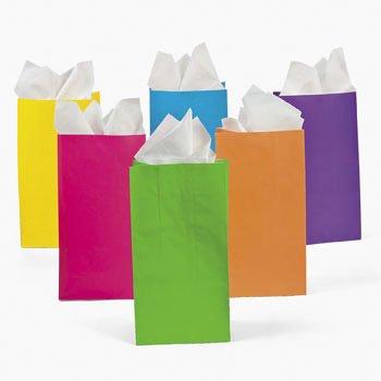 Paper Neon Gift Bags - Neon (1 dz)