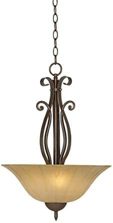 Franklin Iron Works™ Amber Scavo Glass Pendant Chandelier