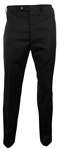Calvin Klein Men'S Wool Blend Slim Fit Flat Front Pant (38Wx32L, Black)