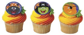 Halloween Pirate Cupcake Toppers