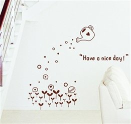 Water Pot Letter Quoted Buds Nursery Wall Sticker Decal front-311980