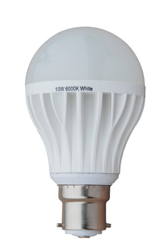Generic Dimmable 10W Thermal Plastic A60 Led Bulb, 220V 230V, B22 Lamp Base, 6000K White, 850 Lumen
