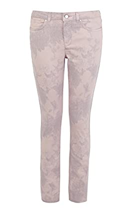 Subtle floral print skinny jean