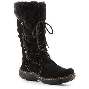 "Women's BareTraps Fleece Lined Boots ""Elicia"" - Black Suede (9.5, Black Suede)"