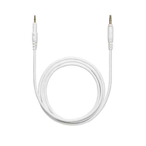 """M-Series Headphones Cable - 1.2M (3.9') Straight (White), Replacement Cable For Ath-M50Xwh. Includes 6.3 Mm (1/4"""") Screw-On Adapter."""